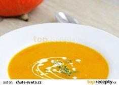 Dýňová polévka z dýně Hokaido recept - TopRecepty.cz Thai Red Curry, Food And Drink, Ethnic Recipes, Hokkaido