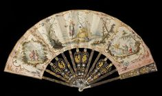 This is a particularly fine example of a Chinoiserie fan made in France in the second half of the 18th century. Chinoiserie is a French term adopted in the 19th century to describe a fashionable European decorative style that imitated and combined stylistic elements of Chinese art and design with those of Western Europe.