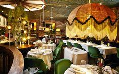 Comedor del restaurante Amazónico, en Madrid.