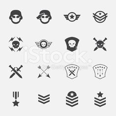 Military symbol icons . vector . illustration. royalty-free stock vector art