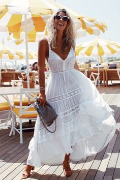$50 Cute Summer Fashion Trends Beachwear Swimwear White Lace See-Through Buttoned Maxi Dress Cover Up