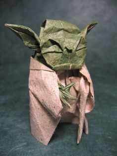 Designed by Fumiaki Kawahata. Folded by Phillip West from Lokta sandpaper paper back coated to tissue paper.