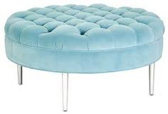 ottoman round powder blue - - Yahoo Image Search Results