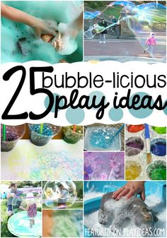 Bubbles and preschoolers go together. That's why these bubble activities are so fun!