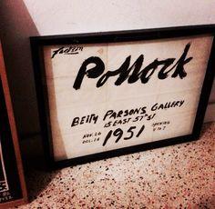Jackson Pollock, 1951 Betty Parsons Invitation Poster on eBay:  http://pages.ebay.com/link/?nav=item.view&alt=web&id=331286640498  #basquiat #picasso #eames #contemporaryart #samo #warhol #keithharing #kennyscharf #streetart #kippenberger  #jacksonpollock #artcontemporain #jeffkoons #eames #dali #dada #cezanne