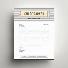 Professional Resume Template and Cover Letter by SuitedBrandLab