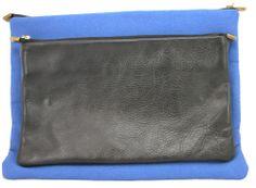 designer leather & canvas laptop case