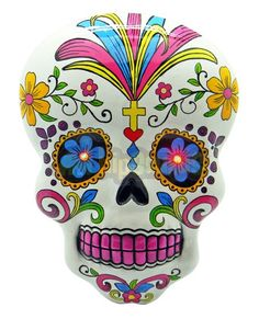 Day of the Dead Wall Plaque with LED Eyes - Dia de los Muertos Art