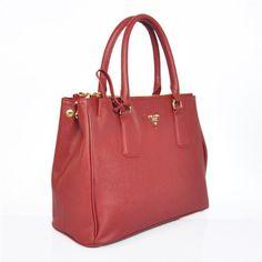Prada BN1786 Handbag in Red Saffiano Leather « Clothing Impulse