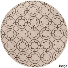 Hand-hooked Dolly Contemporary Geometric Indoor/ Outdoor Area Rug (8' Round) (Beige-(8' Round)), Beige, Size 8'