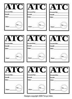 Free ATC Back Design Sheet No.2