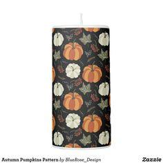 Autumn Pumpkins Pattern Pillar Candle Flameless Candles, Pillar Candles, Thanksgiving Decorations, Seasonal Decor, Custom Candles, Cloth Napkins, Autumn Home, Fall Pumpkins, Keep It Cleaner