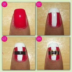Fails design diy step by step nailart art tutorials Super ideas Nail Art Designs 2016, Green Nail Designs, Simple Nail Art Designs, Diy Christmas Nails Easy, Christmas Nail Art, Holiday Nails, Christmas Ideas, Merry Christmas, Christmas Gifts