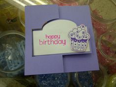 Tarjeta Happy Birthday CupCake