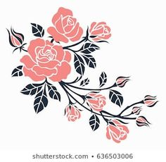 Find Flower Motif Sketch Design stock images in HD and millions of other royalty-free stock photos, illustrations and vectors in the Shutterstock collection. Stencil Rosa, Stencil Painting, Fabric Painting, Henna Designs, Flower Designs, Fabric Paint Designs, Border Embroidery Designs, Pencil Design, Quilling Patterns