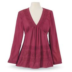 Cayenne Embroidered Top - Women's Clothing & Symbolic Jewelry – Sexy, Fantasy, Romantic Fashions