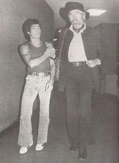 Bruce Lee  & actor James Coburn