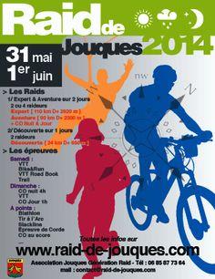 Raid de Jouques : Course d'orientation, Biathlon, Slackline, Tir à l'arc, VTT. Du 31 mai au 1er juin 2014 à Jouques.