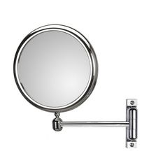 WS Bath Collections Mirror Pure Doppiolo Magnifying Cosmetic Mirror with Extension Magnification: Modern Bathroom Mirrors, Cool Mirrors, Round Wall Mirror, Wall Mounted Mirror, Double Sided Mirror, Kitchen Bath Collection, Magnifying Mirror, Glass Center, Mirrors Wayfair