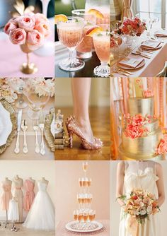 peach and gold wedding styling moody monday the wedding community blog
