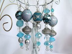 102 Bead Christmas Ornaments Icicles in by CJKingOriginals