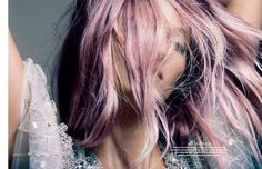 pastel pink + lavender