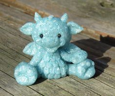 Aqua blue shimmer Dragon