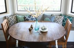 22 Ideas breakfast nook bay window small dining rooms for 2019 - Best Life ideas Window Seat Kitchen, Kitchen Nook, Window Seats, Window Blinds, Kitchen Ideas, Kitchen Island, Kitchen Design, Dining Nook, Dining Room Table