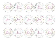 Printed edible toppers, perfect for an anniversary celebration for a wedding, company, job or historic event on cakes, cocktails etc. Can be used as cupcake toppers, cake toppers, cocktail toppers, pie toppers and dessert and icecream decorations. Order today before 10am and qualify for next day delivery. Buy now!