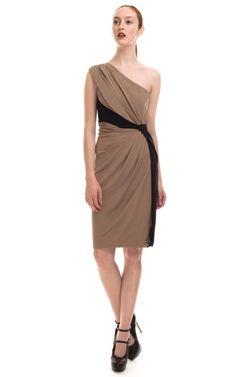 """Philosophy di Alberta Ferretti """"Color Block Organize one Shoulder Dress"""". chic!"""