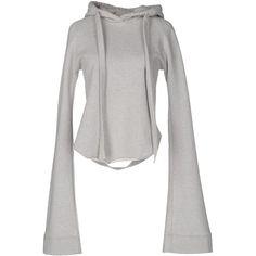 Vetements Sweatshirt ($335) ❤ liked on Polyvore featuring tops, hoodies, sweatshirts, grey, grey sweatshirt, pocket sweatshirt, long sleeve sweatshirt, grey long sleeve top and long sleeve tops