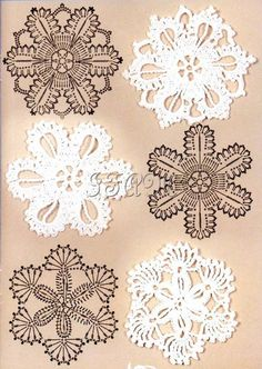 Crochet motifs charts (not the pattern - but you can look up the symbols to…