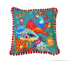 Peacock  beautiful Richloom fabric   vibrant by JulieAlvesDesigns, $60.00