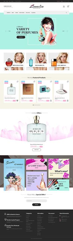 Fresh Perfumes Online Store #Prestashop #template. #themes #business #responsive #webshop #Prestashopthemes
