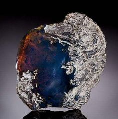 Rare Blue Amber | #Geology #GeologyPage #Amber GeologyPage www.geologypage.com