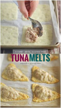 These 4 Ingredient Cheesy Keto Tuna Melts have ZERO Carbs! They're quick to throw together making them the Perfect No Carb Lunch or Snack. The crispy mozzarella cheese compliments the creamy tuna salad perfectly. Cheesy Keto Tuna Melts /// and I've used Bariatric Recipes, Healthy Diet Recipes, Ketogenic Recipes, Keto Snacks, Low Carb Recipes, Cooking Recipes, Ketogenic Diet, No Carb Snacks, No Carb Foods