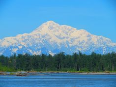 View of Mt. McKinley from Talkeetna, Alaska! We were not able to see this in Talkeetna but did see it while in Denali park.