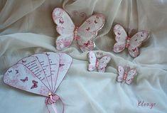 Πεταλουδένιες βεντάλιες και Πεταλούδες στολισμού. Προσκλητήρια με θέμα την «πεταλούδα» είναι σε σχέδιο Βεντάλιας. Kατηγορία : Βάπτιση - Φτιάχτο Μόνη σου, η μαμά έχει πολύ και δημιουργική δουλειά να κάνει #kleogr