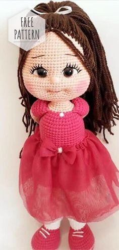 Inspired Photo of Free Crochet Doll Patterns Free Crochet Doll Patterns Free Pattern Nice Amigurumi Doll Crochet Simple, Cute Crochet, Crochet Crafts, Crochet Projects, Crochet Birds, Crochet Food, Crochet Animals, Crochet Mignon, Crochet Dolls Free Patterns