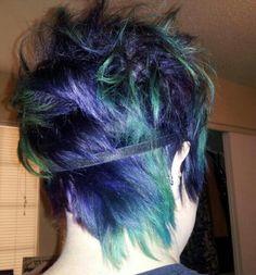 """My """"peacock"""" hair!!"""