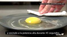 Cocinar huevos con microondas