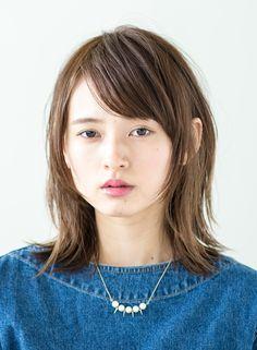 ナチュラルストレートミディアム 【BRIDGE】 http://beautynavi.woman.excite.co.jp/salon/21483?pint ≪ #mediumhair #mediumstyle #mediumhairstyle #hairstyle・ミディアム・ヘアスタイル・髪形・髪型≫