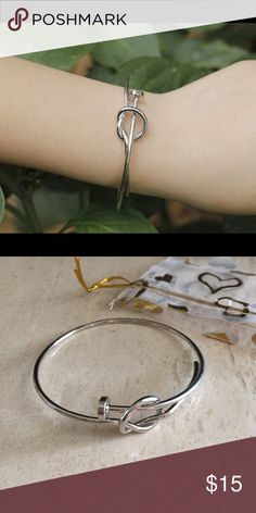 Silver nail bracelet Pure copper with rhodium plating *Price is firm* Jewelry Bracelets