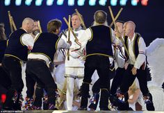 London 2012 Closing Ceremony: Eric Idle and the morris dancers. Yup, my parents do that.