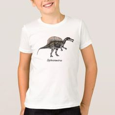 Shop Spinosaurus - Kid's Dinosaur T-Shirt created by TheDinosaurStore. Spinosaurus, Child Love, Types Of Shirts, Shirt Style, T Shirt, Mens Tops, Kids, Stuff To Buy, Party Invitations