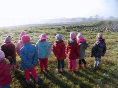 Children in a open garden
