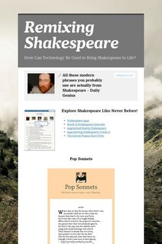 Remixing Shakespeare: A Host of Ideas for Student Projects