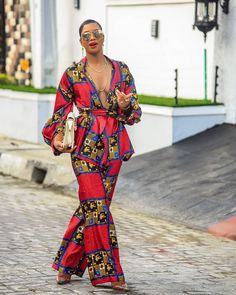 Style it your way! with a camisole, Turtle neck or Collar shirt. African Print Clothing, African Print Fashion, African Fashion Dresses, African Dress, Fashion Prints, Fashion Outfits, Womens Fashion, Fashion Design, African Style