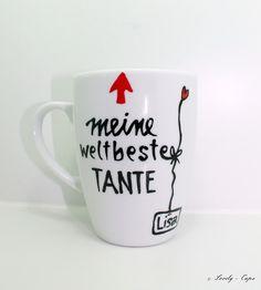 Tasse Taufgeschenk: Tasse Patentante schöne Tasse von Lovely-Cups   auf DaWanda.com