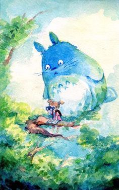 it looks like totoro is about to fall >o< NOOOO don't die or kill Mei!